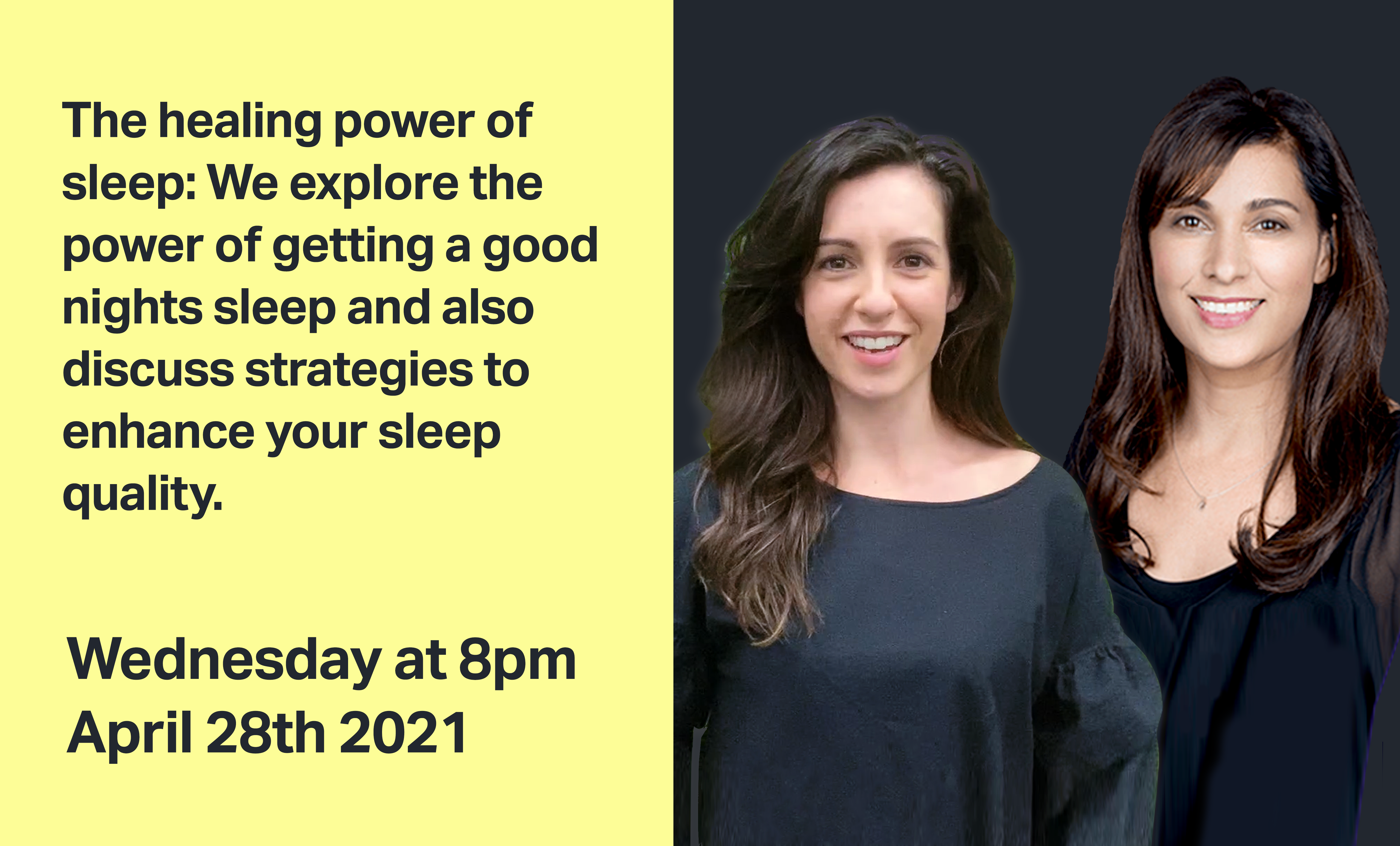 The healing power of sleep April 28th